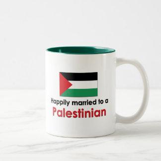 Happily Married Palestinian Two-Tone Coffee Mug