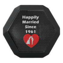 Happily Married Since 1961 Black Bluetooth Speaker