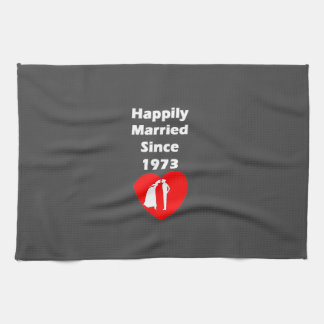 Happily Married Since 1973 Hand Towels