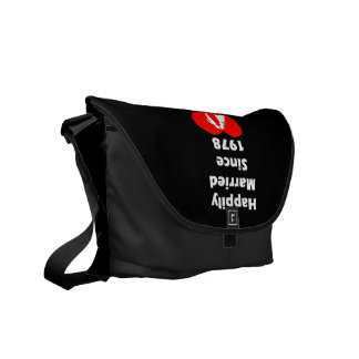 Happily Married Since 1978 Courier Bag