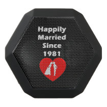 Happily Married Since 1981 Black Bluetooth Speaker