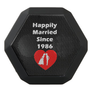 Happily Married Since 1986 Black Bluetooth Speaker