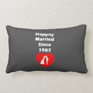 happily married since 1987 lumbar pillow