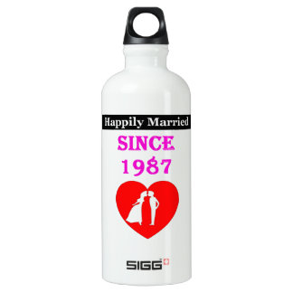 Happily Married Since 1987 SIGG Traveler 0.6L Water Bottle