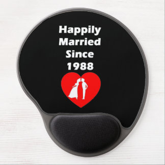 Happily Married Since 1988 Gel Mouse Pad