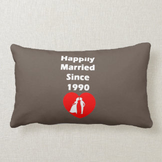 Happily Married Since 1990 Lumbar Pillow