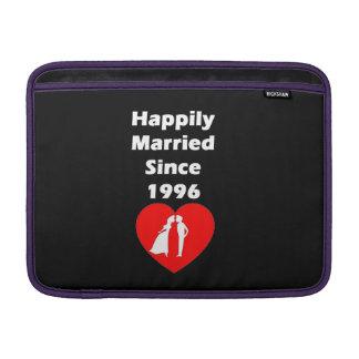 Happily Married Since 1996 MacBook Sleeve