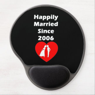 Happily Married Since 2006 Gel Mouse Pad