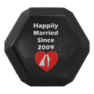 Happily Married Since 2009 Black Bluetooth Speaker
