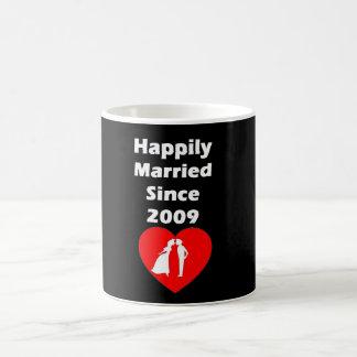 Happily Married Since 2009 Coffee Mug