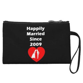 Happily Married Since 2009 Wristlet Wallet