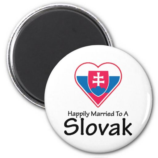 Happily Married Slovak Magnets
