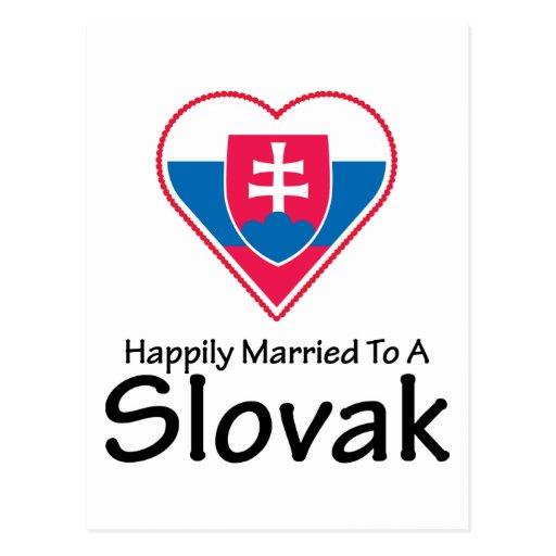 Happily Married Slovak Postcard