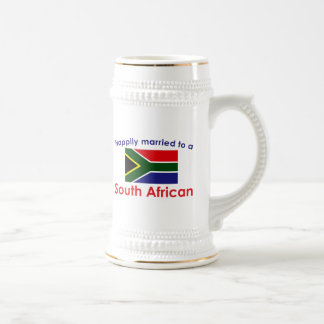 Happily Married South African Beer Stein