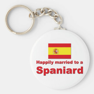 Happily Married Spaniard Basic Round Button Keychain