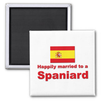 Happily Married Spaniard 2 Inch Square Magnet