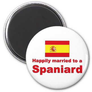 Happily Married Spaniard 2 Inch Round Magnet