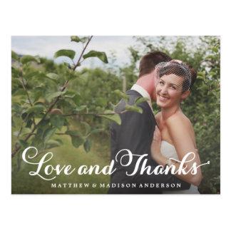 Happily Married Thank You Wedding Overlay Postcard