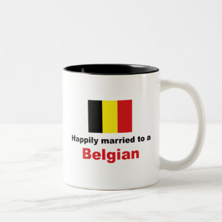 Happily Married To A Belgian Coffee Mugs