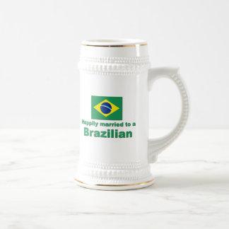 Happily Married to a Brazilian Coffee Mugs