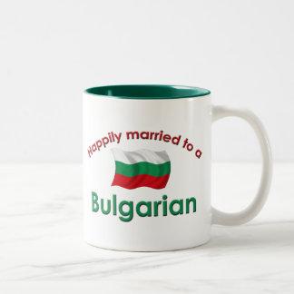 Happily Married To A Bulgarian Two-Tone Coffee Mug