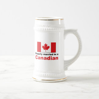 Happily Married To A Canadian Beer Stein