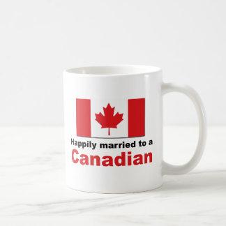 Happily Married To A Canadian Coffee Mug