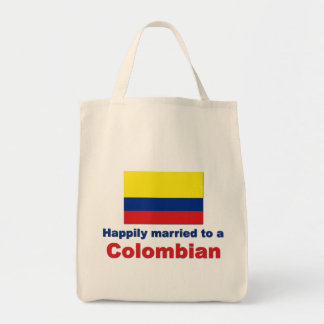 Happily married to a Colombian Tote Bag