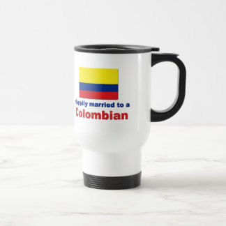 Happily married to a Colombian Travel Mug