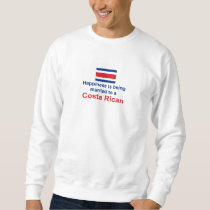 Happily Married To A Costa Rican Sweatshirt
