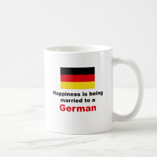 Happily Married To A German Classic White Coffee Mug