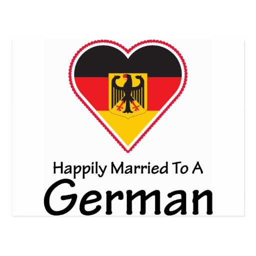 Happily Married To A German Postcard