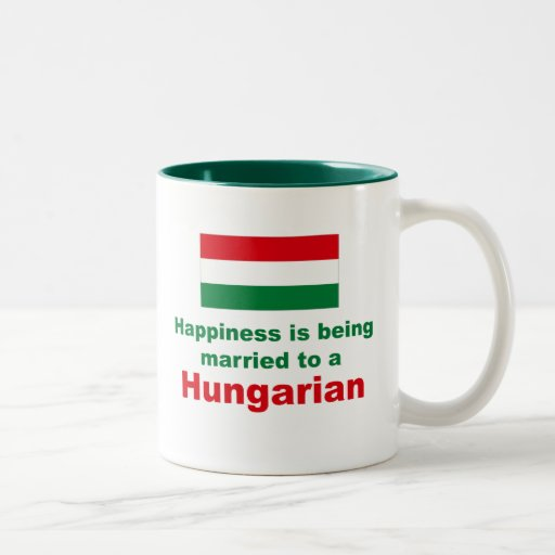 Happily Married To A Hungarian Two-Tone Coffee Mug