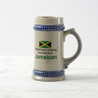 Happily Married To A Jamaican Beer Stein