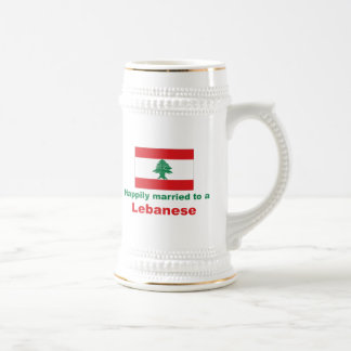 Happily Married To A Lebanese Beer Stein