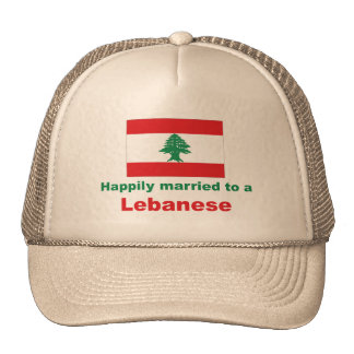 Happily Married To A Lebanese Trucker Hat