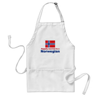 Happily Married To A Norwegian Adult Apron