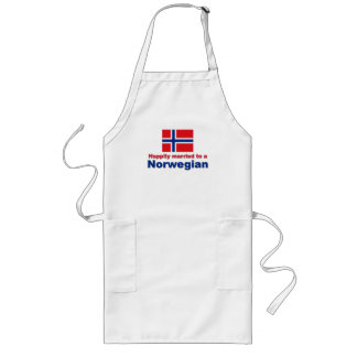 Happily Married To A Norwegian Long Apron