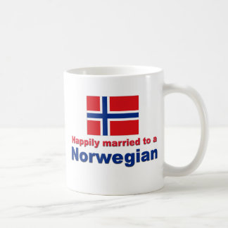 Happily Married To A Norwegian Coffee Mug