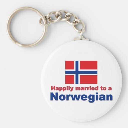 Happily Married To A Norwegian Key Chains
