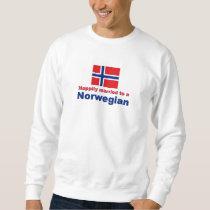 Happily Married To A Norwegian Sweatshirt