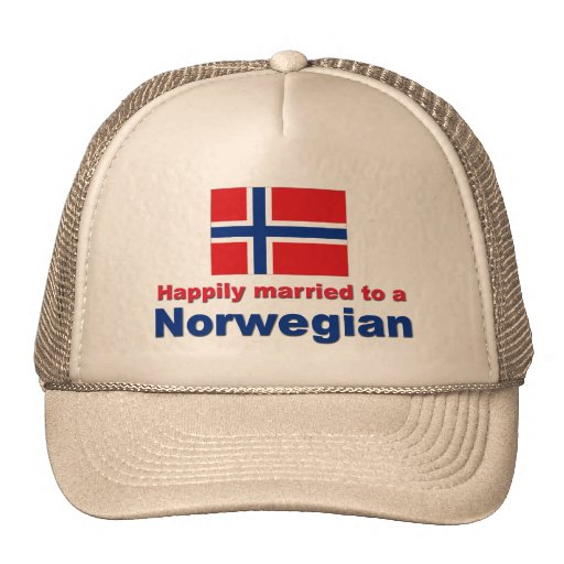 Happily Married To A Norwegian Trucker Hat