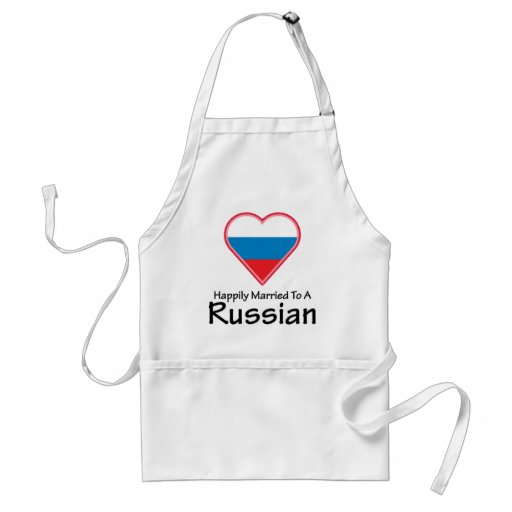 Happily Married to a Russian Adult Apron