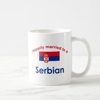 Happily Married to a Serbian 2 Classic White Coffee Mug