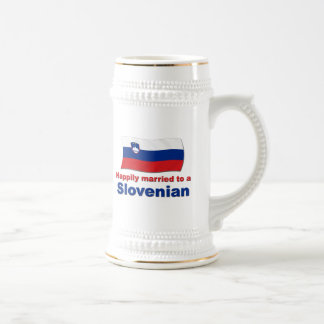 Happily Married To A Slovenian Beer Stein