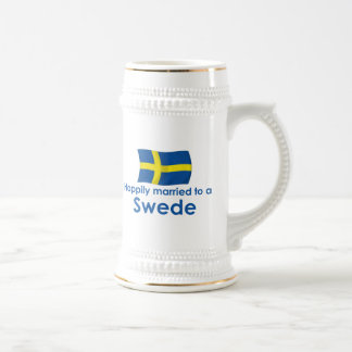Happily Married to a Swede Beer Stein