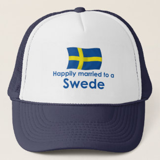 Happily Married to a Swede Trucker Hat