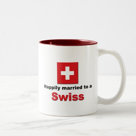 Happily Married to a Swiss Two-Tone Coffee Mug