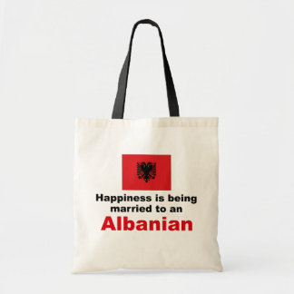 Happily Married To Albanian Tote Bag