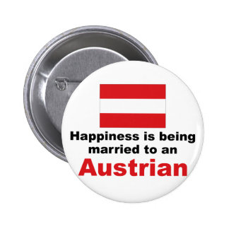 Happily Married To An Austrian Pinback Buttons
